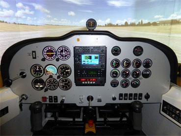 Tecnam P2002 P92 simulator