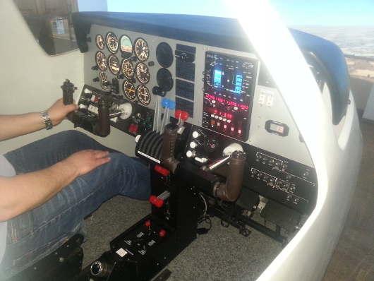 SoftekSim FNPTII simulator of Beechcraft 76 Duchess
