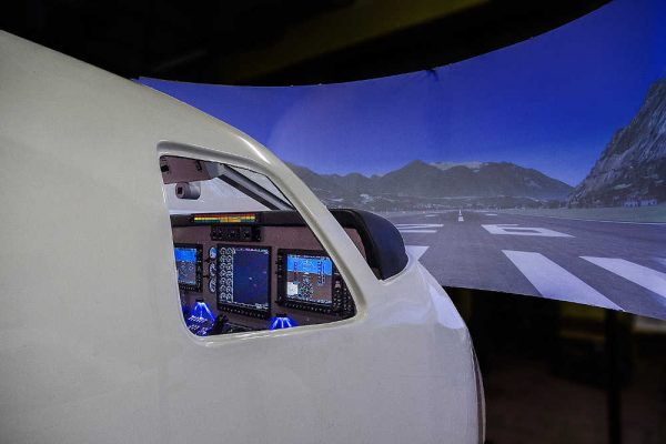 Super King Air 350 FNPTII MCC simulator