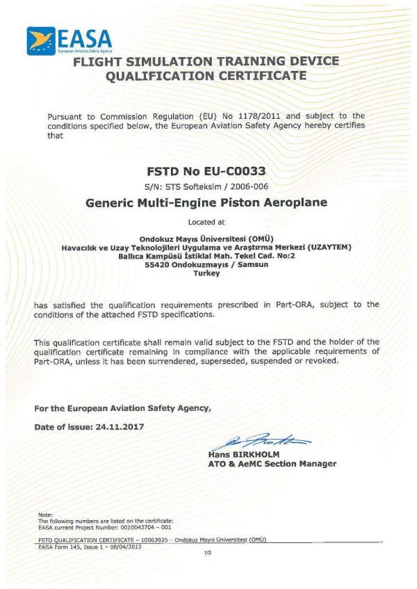 EASA MEP FNPTII certificate