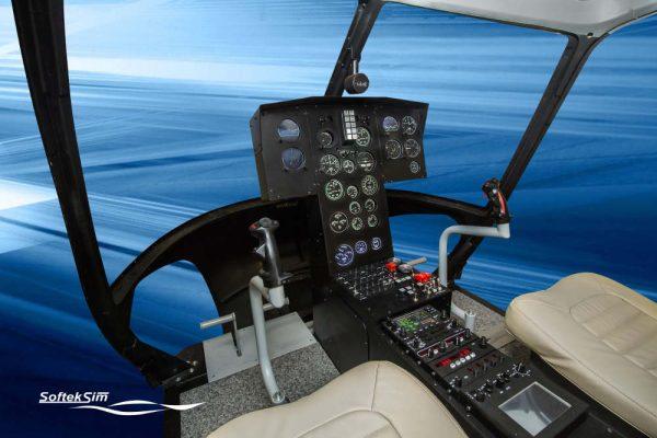 BO105 helicopter FNPTII MCC simulator