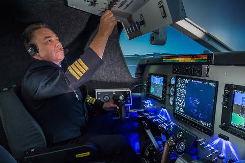 SoftekSim King Air simulator